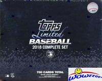 2018 Topps Baseball LIMITED 700 Card Complete Tiffany Factory Set-only 1,000 Set