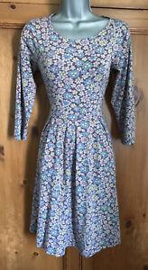 Seasalt The Mouls Dress Size 8 Lilac Floral Organic Cotton Tunic