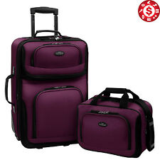 2pcs Trolley Carry On Travel Luggage Suitcase Set SL System Wheels Rolling Case