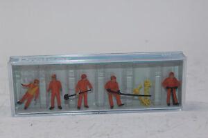 Preiser 14035 Travailleur de Construction 5 Figurines + Accessoire H0 1:87 Neuf