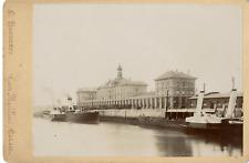 Landouzy. France, Calais, gare Maritime  vintage albumen carte cabinet Tirage