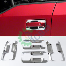 8pcs Chrome ABS Car Door Handle Bowl Cover Trim For Ford F150 F-150 4D 2015-2019
