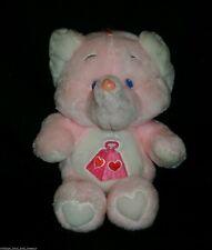 VINTAGE 1984 LOTSA HEART PINK ELEPHANT CARE BEAR COUSINS STUFFED ANIMAL PLUSH