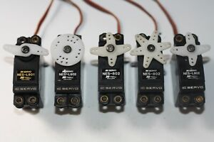 ## JR SERVOS X 5 FOR AIRCRAFT/GLIDERS/HELICOPTERS ##