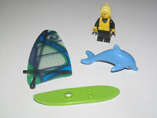 Lego ® City Minifig Figurine Femme Planche à Voile + Dauphin NEW