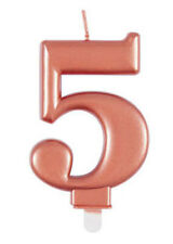Rose Gold Number 5 Birthday Cake Candle