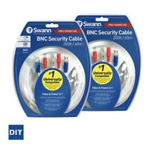 Swann 60m BNC Twin Pack Security Cables / Set Of 2 (120m) New