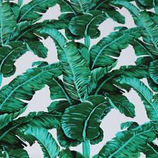 1 Yard Large Leaf Print Chiffon Material Soft Beach Dress Fabric Non-transparent