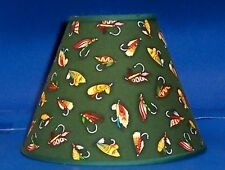 Fishing Lures on Green Fish Handmade Lampshade Lamp Shade