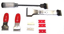 4 pcs Scraper Tool Kit Mini, Extended Scraper Folding Detail Work Decal Remover