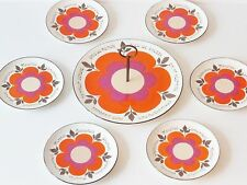 SERVICE A FROMAGES HARMONIE GIEN FRANCE FLOWER POWER VTG VINTAGE POP 70's 70S