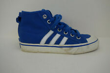 Adidas Originals Nizza trainers hi tops canvas & rubber blue & white UK 4
