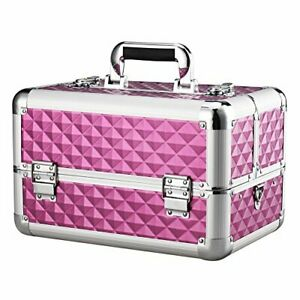 13.8'' Aluminum Professional Makeup Train Case with Adjustable Dividers