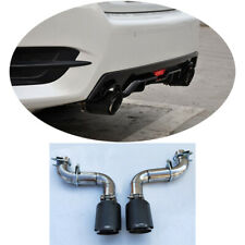 Fit Honda Civic 10th 2016-2017 Carbon Fiber Stainless Rear Exhaust Pipes&System