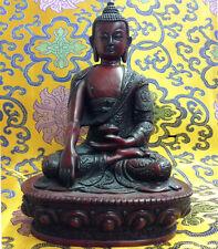 Large Buddha Shakyamuni Tibetan Statue Handmade from Nepal Resin 8.25 Inch