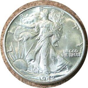 elf Walking Liberty Half Dollar 1942  World War II