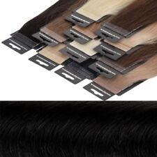 Schwarze kurze Echthaar-Verlängerungen Echthaar Kunst