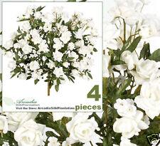 "4 Rose Silk Flower 17"" Artificial Plant Wedding 956C"