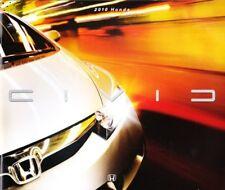 2010 10 Honda Civic Original Sales brochure MINT