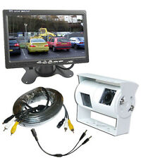Twin Rear View Reversing Camera Kit with Dash Monitor for Motorhomes (WHITE)