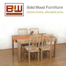 Tasmanian Oak Dining Table 1500x900 +4 Chairs, Free Del. (Custom made furniture)