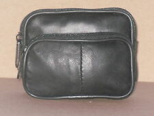 Small Leather Belt Purse/Bag With Round Zip And Front Pocket.