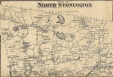 North Stonington Clarks Falls Laurel Glen CT 1868 Map  Homeowners Names Shown