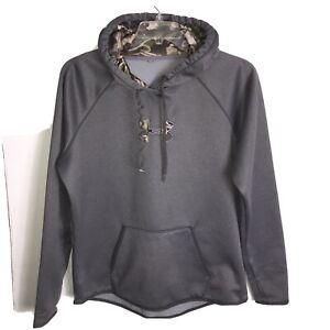 Under Armour Women's XL Hoodie Storm Gear Grey REALTREE Camo Logo & Hood