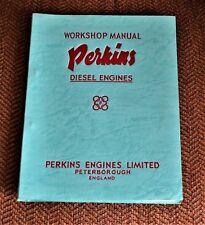 VTG 1961 Perkins Diesel Engines Workshop Manual 7556  4 192 4 203 NM