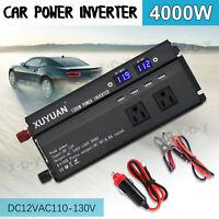 3000/4000/5000W Solar Power Inverter DC12V to AC110V Car Sine Converter Charger