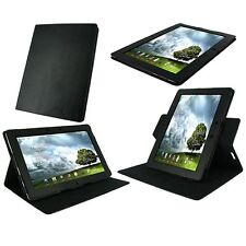 Black Dual-View Genuine Leather Case Cover for ASUS Eee Pad Transformer Prime