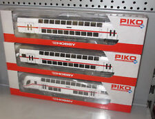 Piko H0 58800 58801 58802 3x DB AG IC Doppelstockwagen Steuerwagen, Ep. VI _ TOP