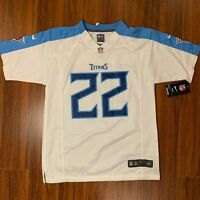 Nike Derek Henry Tennessee Titans White Away Jersey Fits Adult Small (Youth L)
