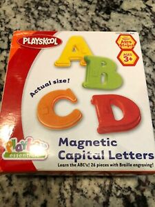 MAGNETIC CAPITAL LETTERS WITH BRAILLE Vintage Playskool