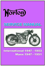 NORTON Workshop Manual International 1947 1948 1949 1950 1951 1952 1953 Service