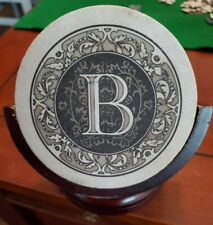 """New listing Thirstystone """"B"""" coasters (4) with a stand. Pre-Owned"""