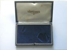 Vintage Longines Watch Box - Art Deco Era Silk and Velvet Lined Presentation Box