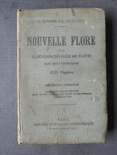 Ancien livre: nouvelle flore par bonnier et de layens, Old French book