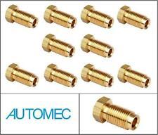 "AUTOMEC Brake Pipe Brass Union Fittings Male 3/8"" UNF x 24tpi for 3/16 Pipe (10)"