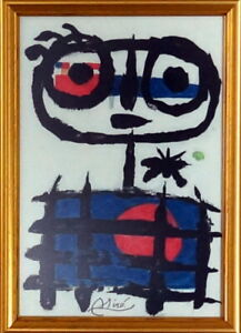 JOAN MIRO Great AUTHENTIC Pastel on Paper Drawing Signed & Framed. Europe