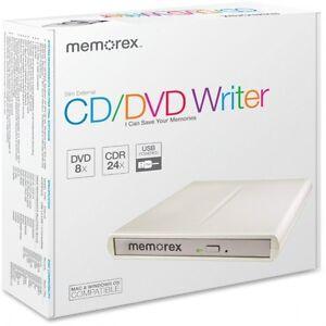 Memorex 98251 CD/DVD Writer 8x- External (New)