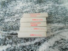 (5) 80 OHM 10 watt ceramic cement power resistor ROCKWOOD QUALITY MADE IN USA