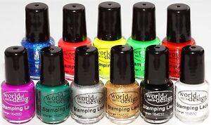 Premium Stamping Lack ✅11 brillante Farben 4,5 ml Hochpigmentiert ✅ Freie Wahl