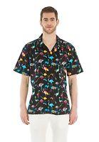 Hawaii Hangover Men's Hawaiian Shirt Aloha Shirt Flamingo Party Black