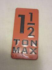 Columbus McKinnon Cm 40908 640-202 Inlay Max Capacity Label New Old Stock