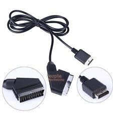 RGB SCART Wire Kabelleitung TV AV für Playstation PS1 PS2 PS3 Spielekonsolen