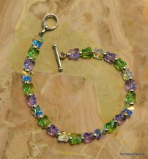 A Unquie Butterfly Austrian Crystal Bracelet with Sterling Silver