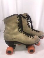 Vintage Chicago Tan Brown Roller Skates Size 7 with Wheels & Bearings 1979 Steel