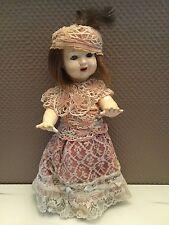 alte Puppe, Marke unbekannt, vermute mit Echthaar, Zähne