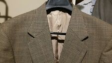 OSCAR de la RENTA 2BTN Men's Tan & Black Checks Sportcoat Blazer Jacket Size 42L